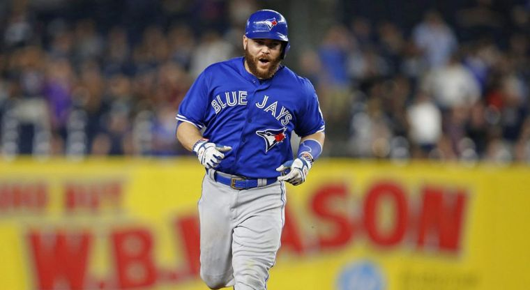 Blue Jays' Russell Martin plays in the most unexpected possition for the first time